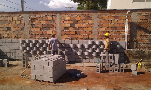 First construction using the green wall blocks